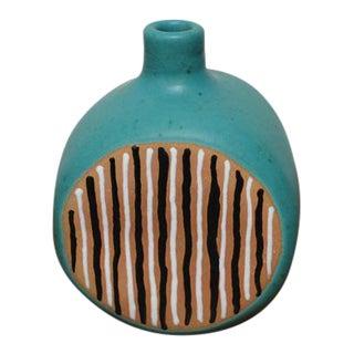 Vintage Turquoise Ceramic Vase