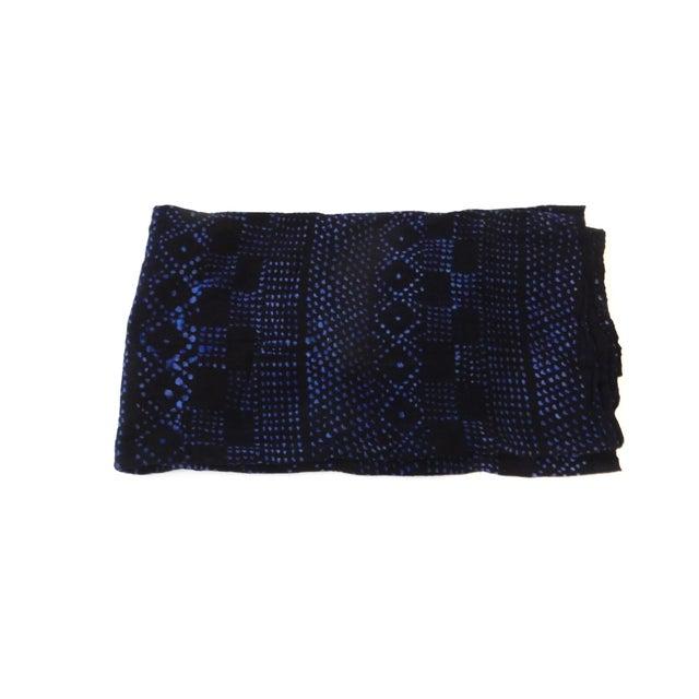 Mali Indigo Mud Cloth Textile - Image 3 of 4
