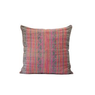 Vintage Hmong Batik Hand Printed Pillow Case