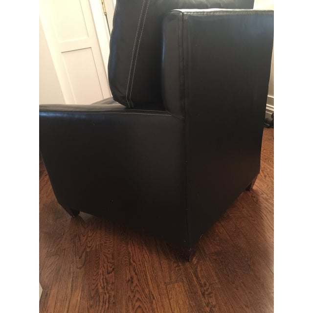 Custom Leather Contemporary Chairs - Pair - Image 5 of 9
