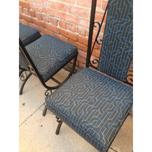 Midcentury Spanish Revival Dining Chairs - Set of 6 - Image 8 of 8