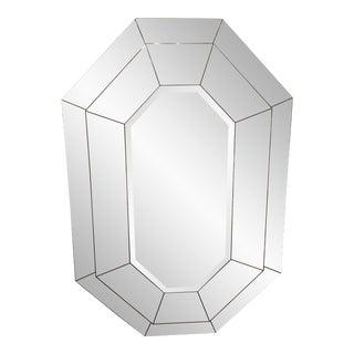 Mid-Century Modern Tiered Octagon Mirror