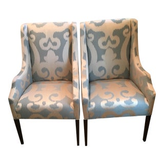 Kravet Host & Hostess Arm Chairs - A Pair