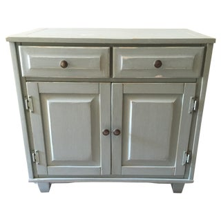 Vintage Shabby Chic Hand Painted Green Cabinet