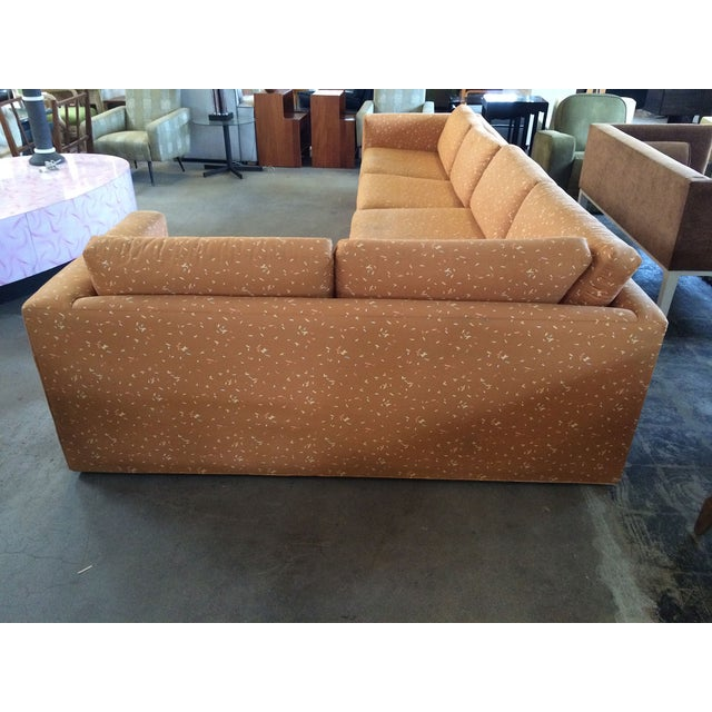 Milo Baughman Large Sectional Sofa with Pullout - Image 2 of 8
