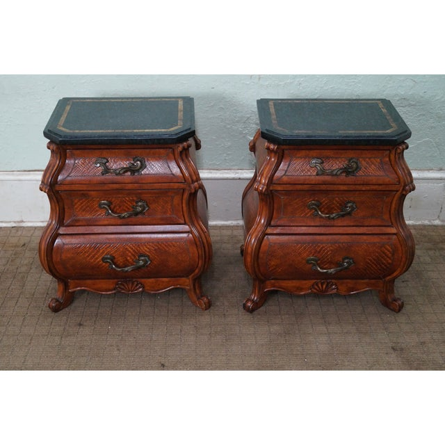 Quality Bombe Leather Wrapped Chests - Pair - Image 2 of 10