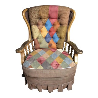 Ethan Allen Tatterdemalion Patchwork Chair