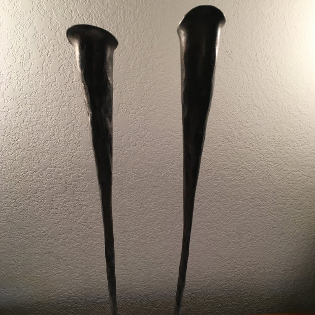 Image of Hand-Forged Steel Candle Holder