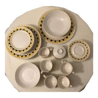 Vintage Mikasa Mediterranean Golden Bell Set for 8 Dinnerware Dishes - 44 Pcs.
