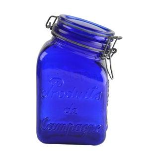 Cobalt Blue Glass Canister