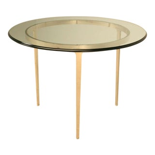 Round Bronze Table by Old Plank