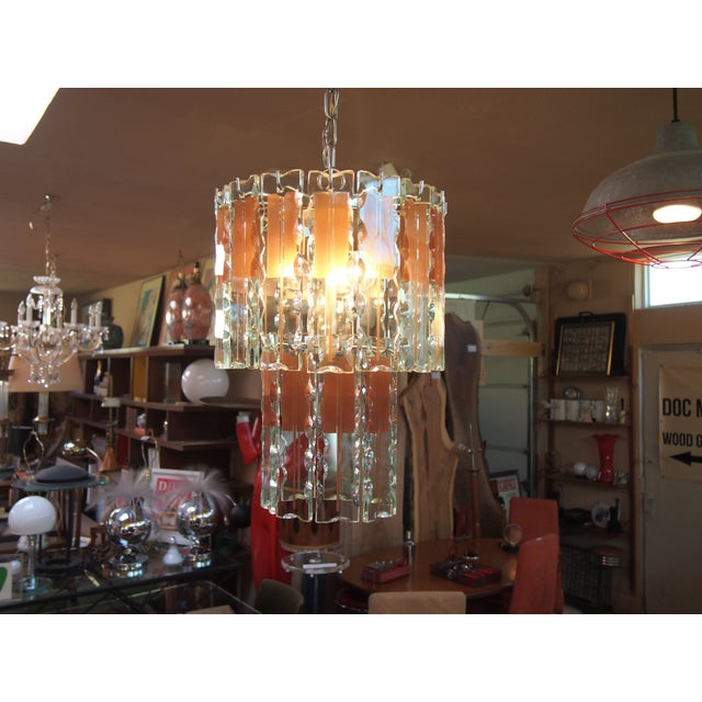 Italian Mid-Century Coral & Crystal Chandelier - Image 4 of 6