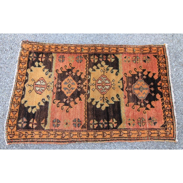 Vintage Turkish Oushak Tribal Hand Knotted Rug- 2′2″ × 3′5″ - Image 2 of 6