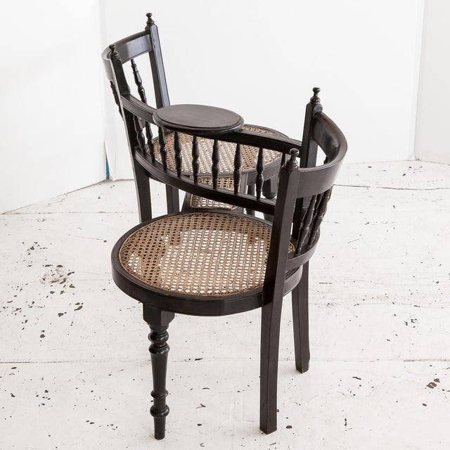 Image of Anglo-Indian Tete a Tete Chair