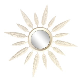 Lukas Sunbust Mirror With Botanical Style Rays
