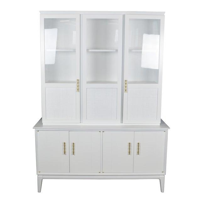 Midcentury Rattan Cabinet - Image 1 of 4