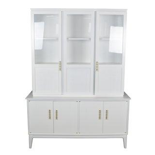 Midcentury Rattan Cabinet