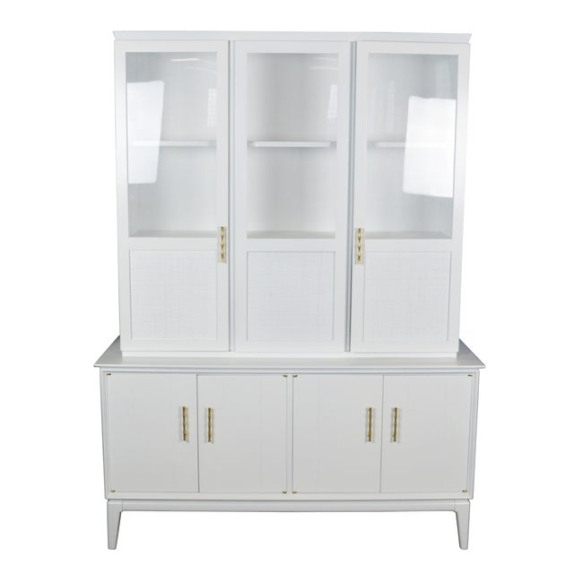 Image of Midcentury Rattan Cabinet