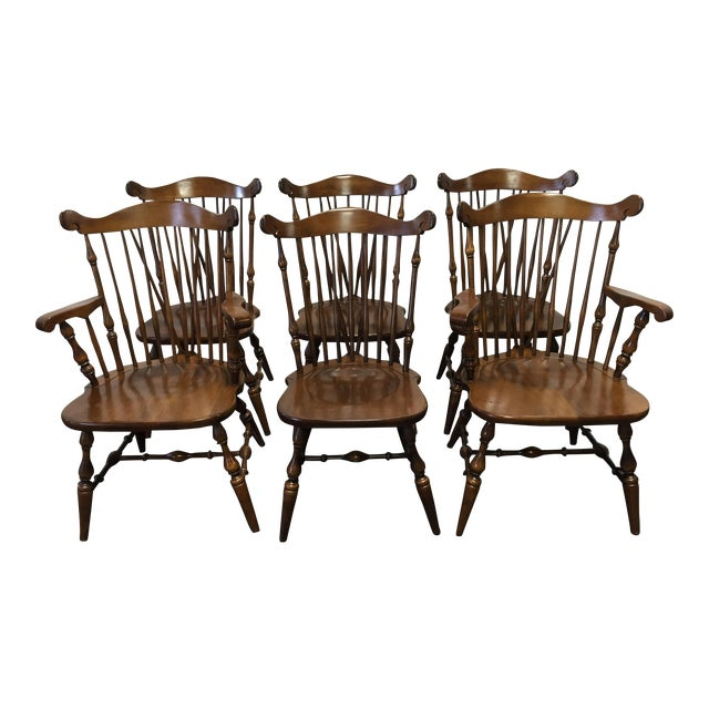 Temple Stuart Rockingham Windsor Dining Chairs  Set of 6. Temple Stuart Rockingham Windsor Dining Chairs  Set of 6   Chairish