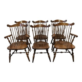 Temple Stuart Rockingham Windsor Dining Chairs -Set of 6