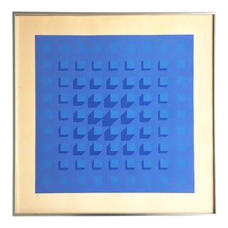 Op Art Geometric Abstract Serigraph