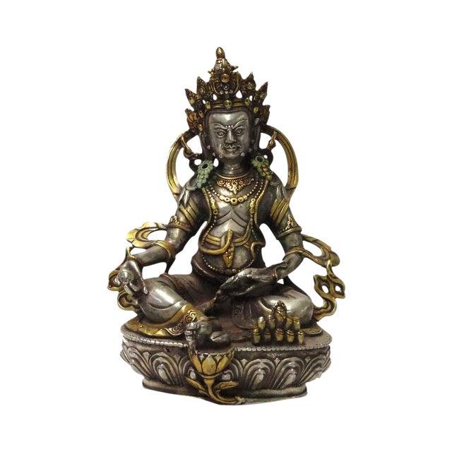 Tibetan Silver Amp Gold Plated Metal Zambala Statue Chairish