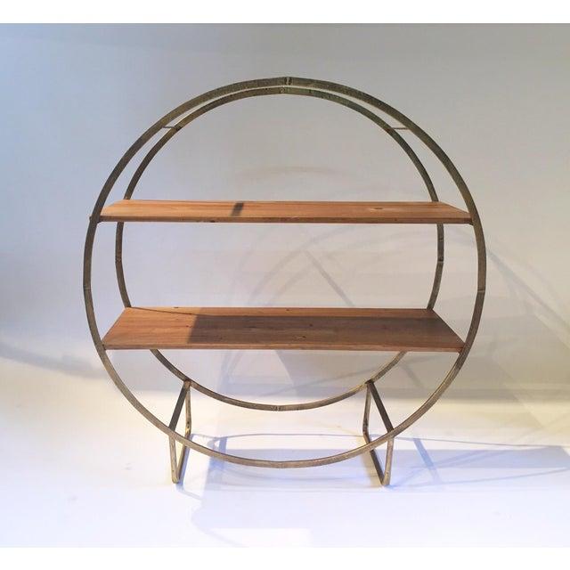 Two Tiered Bronze-Tone Circular Shelf - Image 2 of 4
