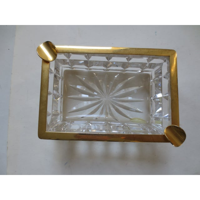 Baccarat French Cut Glass & Gilt Ash Tray - Image 3 of 5