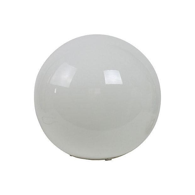 1970's Milk Glass Globe Table Lamp - Image 1 of 3