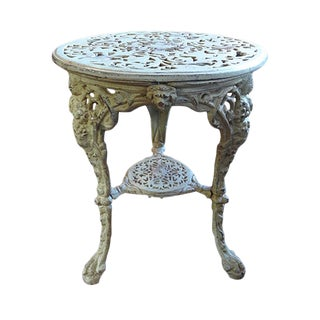 Vintage Cast Iron Bistro Table