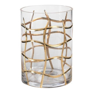 Gold Weave Candle Holder