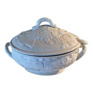 Vintage Italian Pottery White Soup Tureen