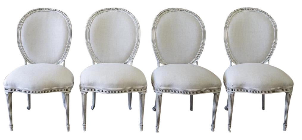 ej victor painted u0026 upholstered style dining chairs set