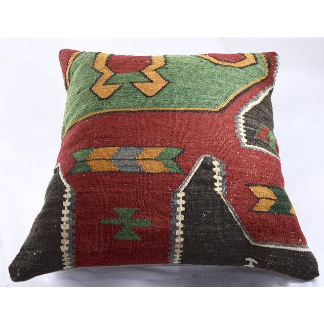 Oversized Kilim Accent Pillow - Image 4 of 8