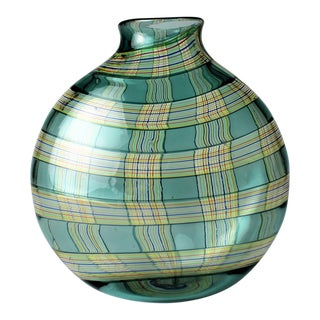 Tiffany & Co. Blown Glass Ribbon Vase