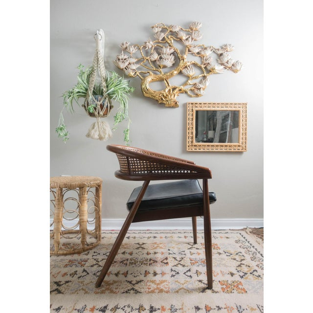 Vintage Antique Curved Cane Dining Room Chairs
