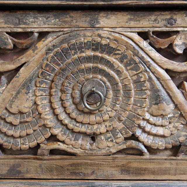 Image of Antique Carved Mongolian Console