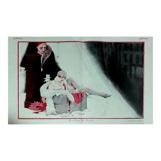 """Lorenzi 1926 """"Boites de Nuit"""" Le Sourire Print"""