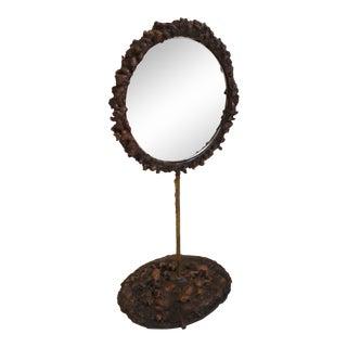 Welded Copper Table Mirror by James Bearden
