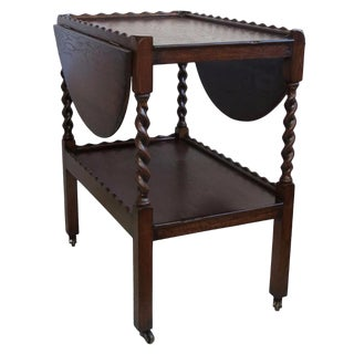 English Drop-Leaf Cart / Side Table