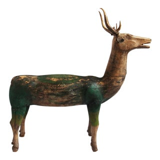 Antique Javanese Wooden Deer
