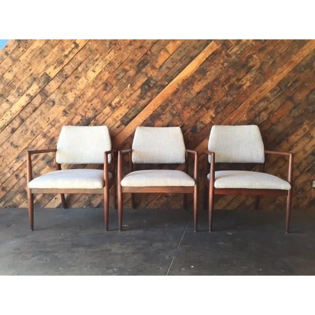 Mid-Century Danish Walnut Sculpted Arm Chair - Image 3 of 9