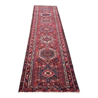 Vintage Decorative Long Persian Heriz Karaje Runner Rug - 2′11″ × 12′11″