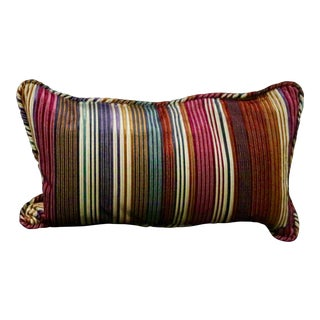 Multi Color Striped Pillow