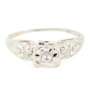 14 K Gold Diamond Engagement Ring