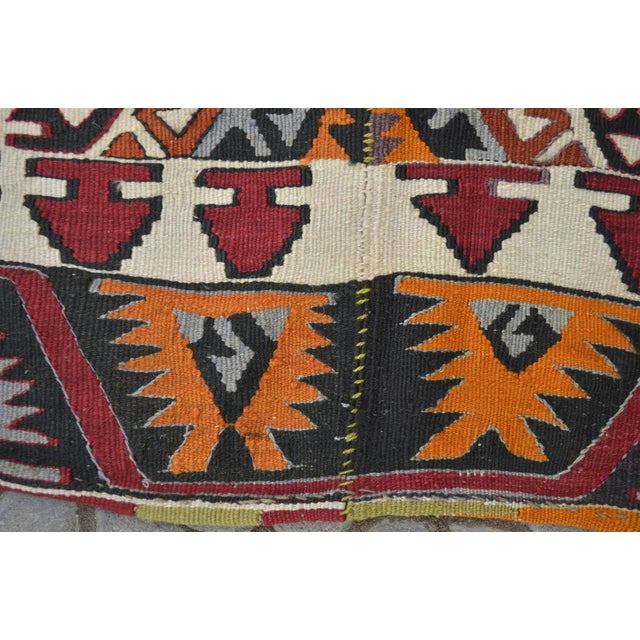 "Hand-Woven Turkish Kilim Rug - 7'2"" x 16'3"" - Image 3 of 11"
