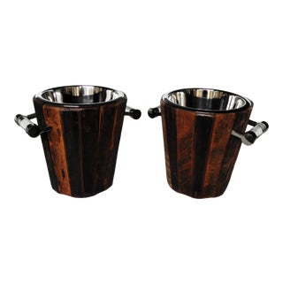 Rustic Modern Wine Coolers - A Pair