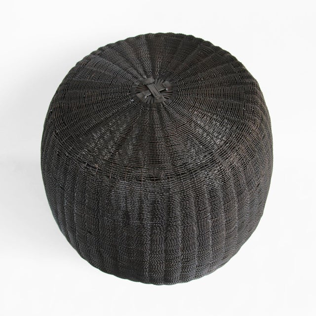 Blackened Wire Barrel Stool - Image 3 of 3