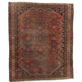 Hand-Knotted Wool Persian Malayer Rug - 4′11″ × 6′