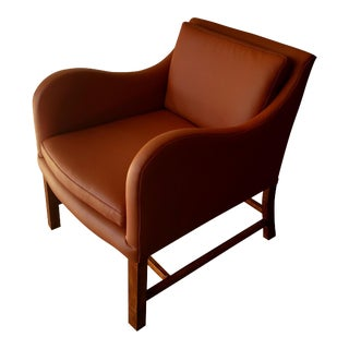 Saddle Brown Leather Accent Chair